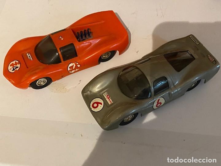 Scalextric: SLOT CARS DOS CREO QUE CARROS DE CARRERAS FABRICADOS POR ELDON USA (no Scalextric) - Foto 2 - 285697808
