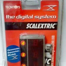 Scalextric: SCX SCALEXTRIC DIGITAL SYSTEM MODULO CONOMETRO + 2,65 ENVIO PARA CIRCUITOS Y PISTAS NO COCHE. Lote 294989043