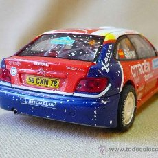 Scalextric: SLOT CAR SCALEXTRIC, CITROEN XSARA T4, WRC, NIEVE, CARLOS SAINZ, TOTAL, TRACCION 4 RUEDAS, TECNITOYS. Lote 24217905