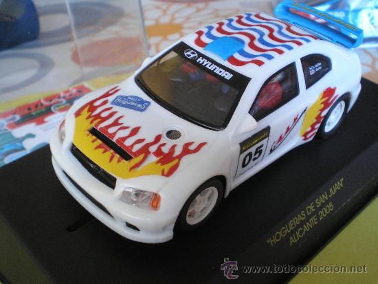 CARTRIX COMP SCALEXTRIC HYUNDAY ACCENT SER LTDA HOGUERAS DE SAN JUAN AÑO 2005 Nº 87 DE 200 (Juguetes - Slot Cars - Scalextric Tecnitoys)