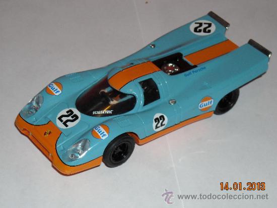 PORSCHE 917 GULF DE SCALECTRIC TECNITOYS ALTAYA (Juguetes - Slot Cars - Scalextric Tecnitoys)