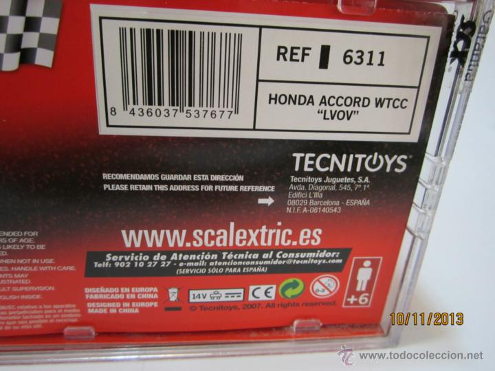 Scalextric: HONDA ACCORD WTCC A. Lvov NUEVO SCALEXTRIC - Foto 3 - 79358401