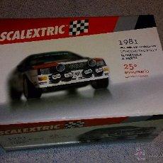 Scalextric: SCALEXTRIC AUDI QUATTRO 1981 25º ANIVERSARIO EDICON LIMITADA. Lote 42314970