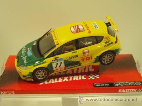SEAT LEON BTCC PLATO (Juguetes - Slot Cars - Scalextric Tecnitoys)