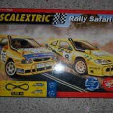 Scalextric: LOTE SCALEXTRIC RALLY SAFARI - TECNITOYS Y ACCESORIOS, COCHE Y MANDOS. Lote 44649977