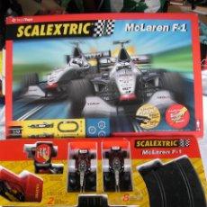 Scalextric: CIRCUITO SCALEXTRIC MCLAREN F1 - FORMULAS DE MIKA Y DAVID - EN SU CAJA COMO NUEVO. Lote 45721520