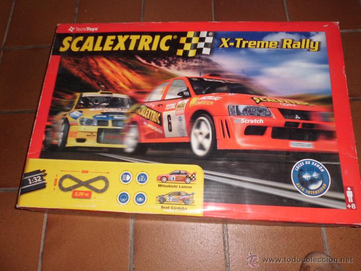 SCALEXTRIC X-TREME RALLY CON CAJA COMPLETO SEAT CORDOBA Y MITSUBISHI LANCER (Juguetes - Slot Cars - Scalextric Tecnitoys)