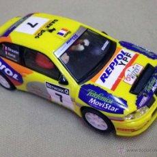Scalextric: SLOT CAR SCALEXTRIC, SEAT CORDOBA WRC, AURIOL - GIRAUDET, FUNCIONA. Lote 51459950