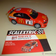 Scalextric: SCALEXTRIC. ALTAYA. SEAT LEÓN. COLECCIÓN SEAT SPORT.. Lote 184170645