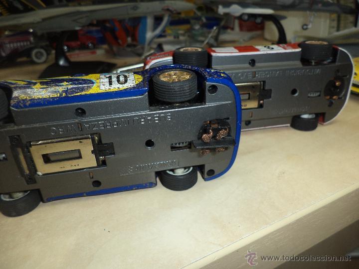 Scalextric: Lote 2 coches Scalextric Tecnitoys efecto barro.Subaru Impreza y Mitsubishi Lancer. - Foto 4 - 54137136