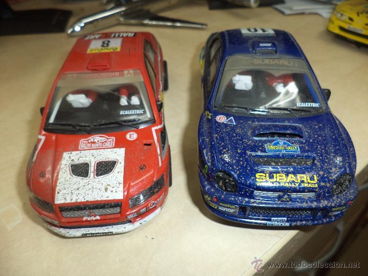 Scalextric: Lote 2 coches Scalextric Tecnitoys efecto barro.Subaru Impreza y Mitsubishi Lancer. - Foto 6 - 54137136