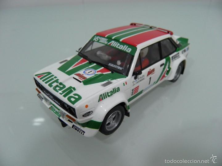 SLOT, SCX, ESCALEXTRIC, FIAT 131 ABARTH-ALITALIA Nº1,M. ALEN-I.KIVIMAKI,1º-29RALLY 1000 LAGOS 1979 (Juguetes - Slot Cars - Scalextric Tecnitoys)
