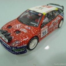 Scalextric: SLOT,SCX, SCALEXTRIC, CITROËN XSARA T4 WRC Nº19, CARLOS SAINZ, MARC MARTI, 3º RALLY MONTECARLO 2003. Lote 57613031