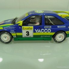 Scalextric: SLOT,SCX,SCALEXTRIC,FORD ESCORT RS COSWORTH Nº 3,YACCO, 1º RALLY MONTECARLO 1996, PATRICK BERNARDINI. Lote 57652418