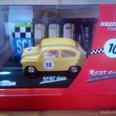 Scalextric: C-31 SEAT 600 SUPER VINTAGE 6457 + REGALO DECORACIÓN EXIN TRIANG SCALEXTRIC SCX CARTRIX SRC. Lote 58466134