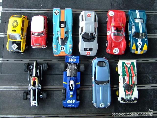 SCALEXTRIC 10 COCHES DE LA COLECCION ALTAYA SIN MOTOR (Juguetes - Slot Cars - Scalextric Tecnitoys)