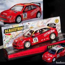 Scalextric: CITROEN XSARA WRC COSTA BRAVA 2001 REF-6077+CITROEN XSARA WRC PURAS TECNITOYS+REGALO XSARA 1/43. Lote 69930769