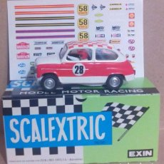 Scalextric: SEAT 600 T.C. RALLYE + REGALO DECORACIÓN EXIN SCALEXTRIC SCX TRIANG TECNITOY NINCO TEAMSLOT REPROTEC. Lote 175161578