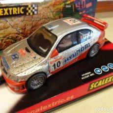 Scalextric: SCALEXTRIC. HYUNDAI ACCENT WRC. EFECTO BARRO. REF. 6120. Lote 103758224