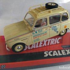Scalextric: SCALEXTRIC RENAULT 4L TIERRA DE FUEGO CON LUCES. NUEVO. REF A10221S300. Lote 143136194