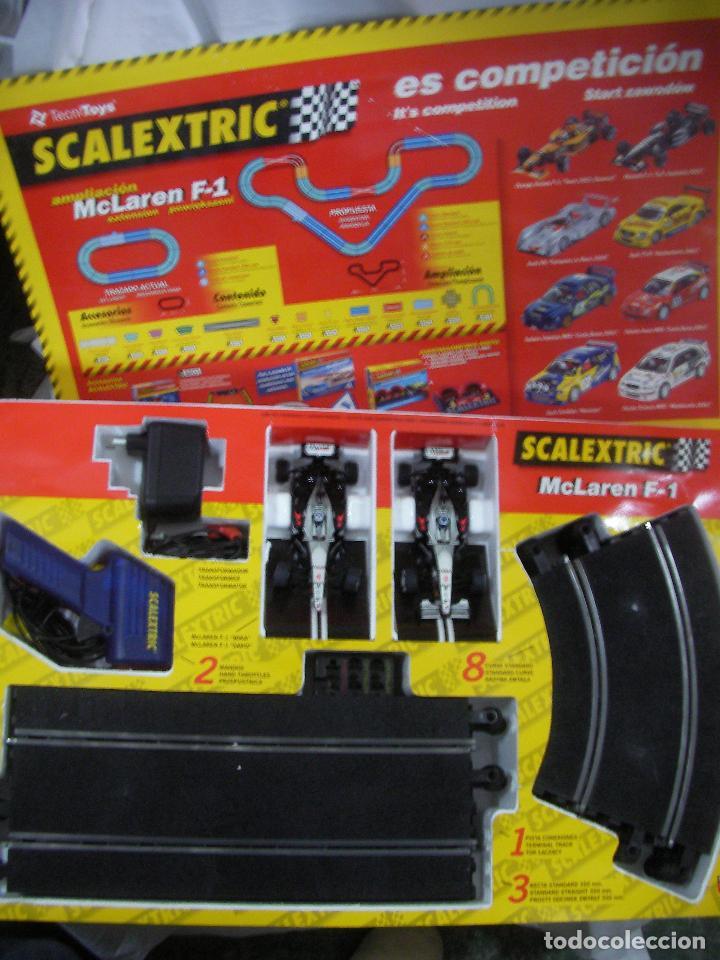 Scalextric: ANTIGUA PISTA SCALEXTRIC MCLAREN F1 CON COCHES Y ACCESORIOS VARIOS - Foto 2 - 77627669