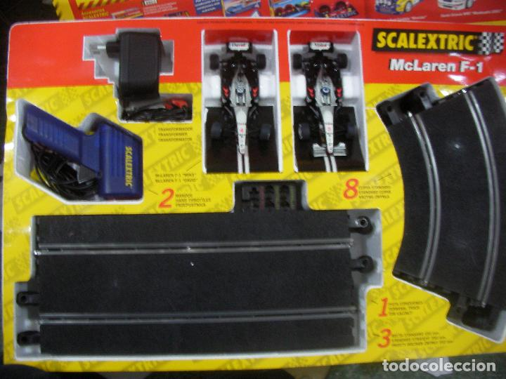 Scalextric: ANTIGUA PISTA SCALEXTRIC MCLAREN F1 CON COCHES Y ACCESORIOS VARIOS - Foto 3 - 77627669