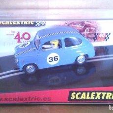 Scalextric: C-31 SEAT 600 T.C. 40 ANIVERSARIO CON REGALO HOJA DECORACIÓN EXIN SCALEXTRIC SCX TECNITOYS TRIANG. Lote 84772260
