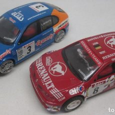 Scalextric: SCALEXTRIC TECNITOYS SEAT LEON + RENAULT MAXI MEGANE. Lote 96758779
