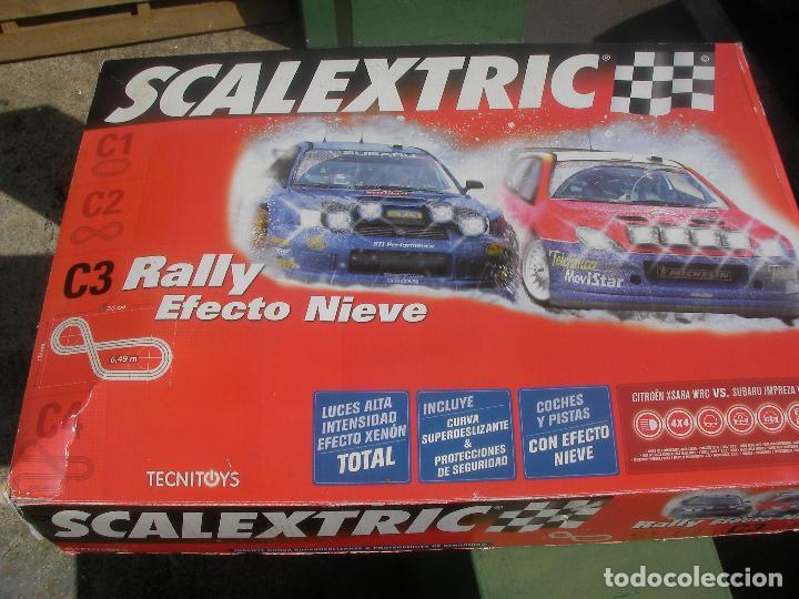 PISTA SCALEXTRIC RALLY C 3 EFECTO NIEVE CON PISTAS NUEVAS (Juguetes - Slot Cars - Scalextric Tecnitoys)