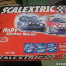 Scalextric: PISTA SCALEXTRIC RALLY C 3 EFECTO NIEVE CON PISTAS NUEVAS. Lote 162508093