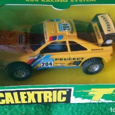 Scalextric: PEUGEOT 405 AMARILLO – SCALEXTRIC – REF 6420 – GUIA BASCULANTE, 4X4. Lote 98218239