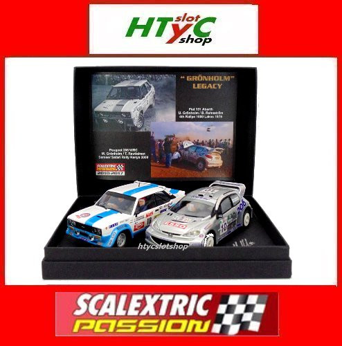 SCALEXTRICPASSION PEUGEOT 206 / FIAT 131 GRONHOLM LEGACY 1000 LAGOS / KENIA SP028 (Juguetes - Slot Cars - Scalextric Tecnitoys)