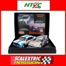 Scalextric: SCALEXTRICPASSION PEUGEOT 206 / FIAT 131 GRONHOLM LEGACY 1000 LAGOS / KENIA SP028. Lote 107638923