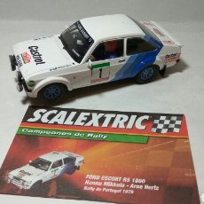 Scalextric: FORD ESCORT RS 1600 SCALEXTRIC ALTAYA CAMPEONES DE RALLY. Lote 110216391