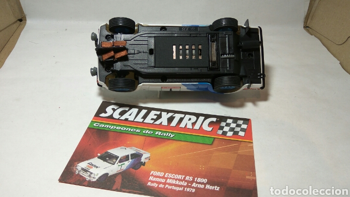 Scalextric: FORD ESCORT RS 1600 SCALEXTRIC ALTAYA CAMPEONES DE RALLY - Foto 2 - 182584412