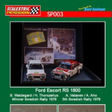 Scalextric: SCALEXTRICPASSION SP003 FORD ESCORT RS1800. Lote 113000283
