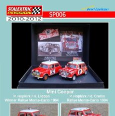 Scalextric: SCALEXTRICPASSION SP006 MINI COOPER. Lote 113002163
