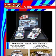 Scalextric: SCALEXTRICPASSION SP016 REMEMBER LANCIA DELTA WINNER'S. Lote 113226452