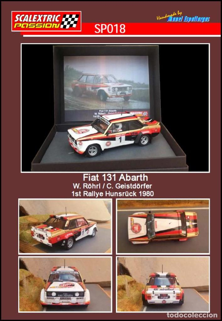 SCALEXTRICPASSION SP018 FIAT 131 ABARTH (Juguetes - Slot Cars - Scalextric Tecnitoys)