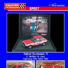 Scalextric: SCALEXTRICPASSION SP027 TALBOT SUNBEAM TI. Lote 113012563