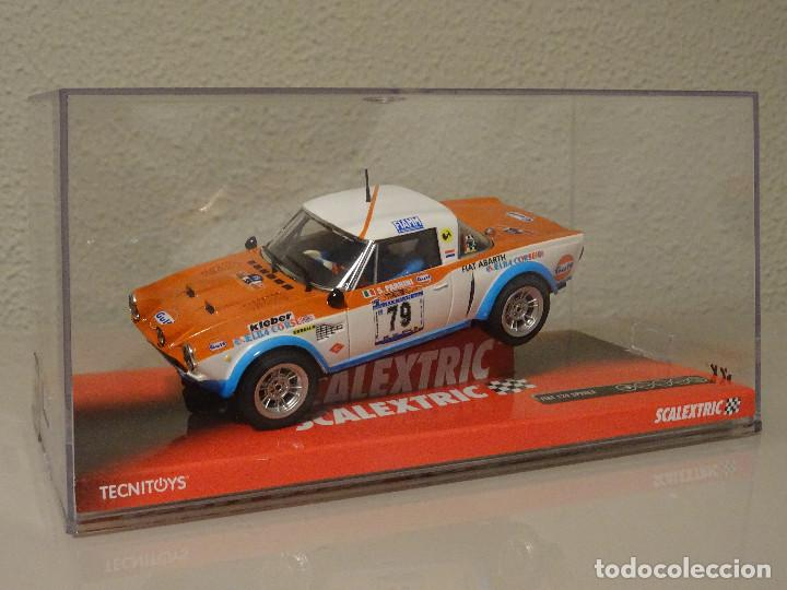 NUEVO A ESTRENAR COCHE SCALEXTRIC RALLY SLOT FLY TEAMSLOT FIAT 124 SPYDER (Juguetes - Slot Cars - Scalextric Tecnitoys)