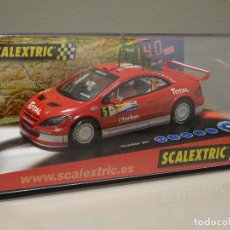 Scalextric: NUEVO A ESTRENAR COCHE SCALEXTRIC RALLY SLOT FLY TEAMSLOT PEUGEOT 307 WRC GRONHOLM. Lote 118757095