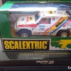 Scalextric: SLOT SCALEXTRIC TECNITOYS MITSUBISHI PAJERO TT VINTAGE BLANCO. Lote 120953935