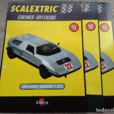 Scalextric: COLECCIONABLES SCALEXTRIC MERCEDES WANKEL C-111. NÚM 41,42 Y 43. Lote 128186715