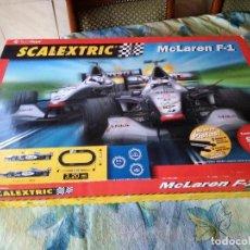 Scalextric: CIRCUITO SCALEXTRIC MCLAREN F1 - FORMULAS DE MIKA Y DAVID - EN SU CAJA. Lote 129313151