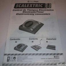 Scalextric: SCALEXTRIC MANUAL INSTRUCCIONES Y MONTAJE CONTROL DE TIEMPOS ELECTRÓNICO. TECNITOYS 2002. REF. 8831. Lote 130206118