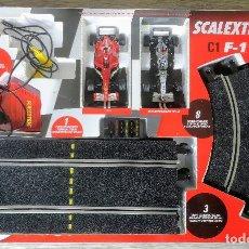 Scalextric: ANTIGUO SCALEXTRIC DE TECNITOYS - C1 F1 - FORMULA 1 - MACLAREN Y FERRARI - COCHES Y PISTAS EN PERFEC. Lote 131096468