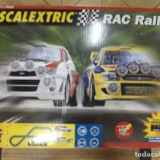 Scalextric: SCALEXTRIC RAC RALLY.COMPLETO,SEAT CÓRDOBA MONTECARLO 1999 Y FORD FOCUS MONTECARLO 1999.. Lote 133700778