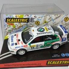 Scalextric: SCALEXTRIC SKODA OCTAVIA WRC MONTECARLO 2001 TECNITOYS REF. 6066. Lote 134036171