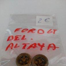 Scalextric: PAR LLANTAS FORD GT SCALEXTRIC ALTAYA. Lote 139817602